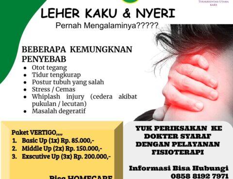 Pelayanan Fisioterapi Dokter Spesialis Syaraf