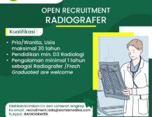 Lowongan Pekerjaan Radiografer