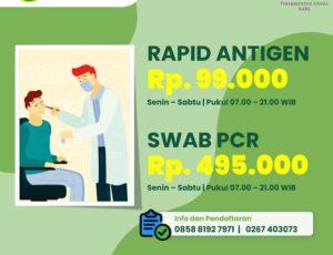 Harga Terbaru Rapid Antigen & Swab PCR